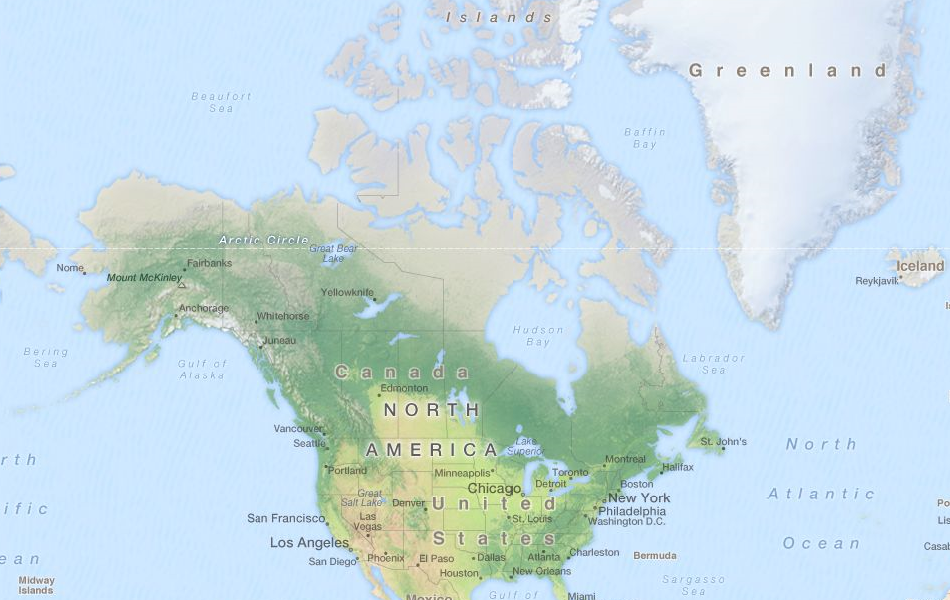 Map of Canada in ExpertGPS GPS Mapping Software