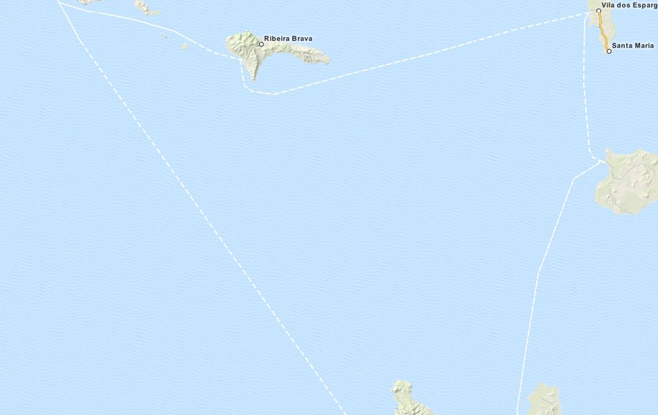 Map of Cape Verde in ExpertGPS GPS Mapping Software