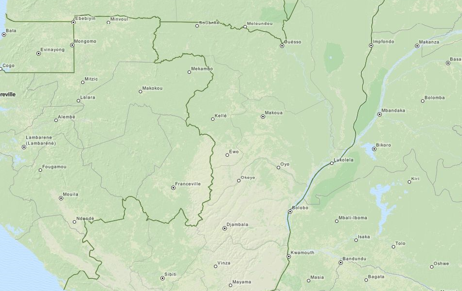 Map of Congo in ExpertGPS GPS Mapping Software