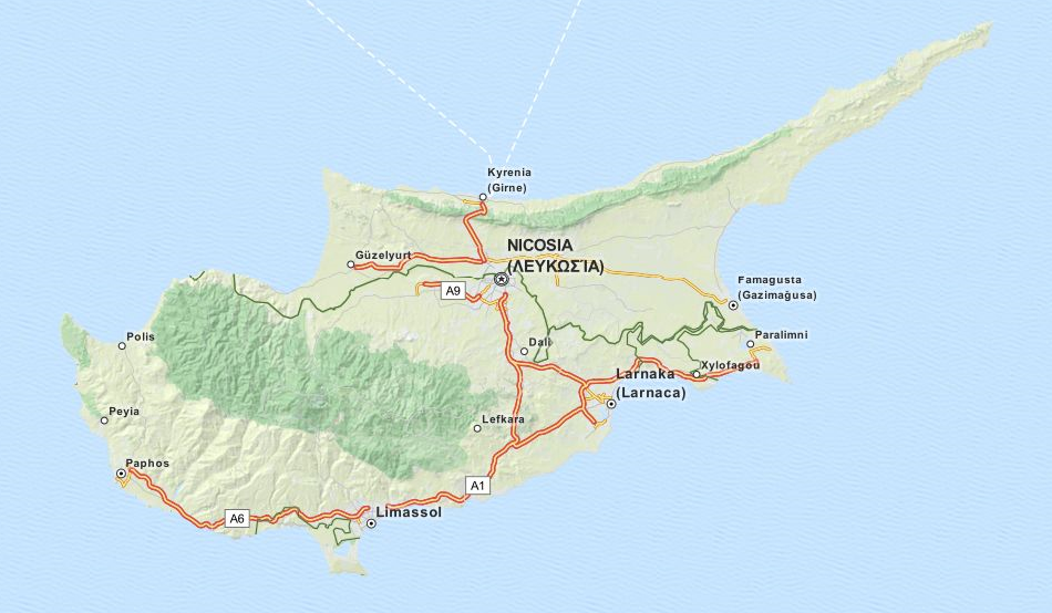 Download Cyprus Map Software for Your GPS