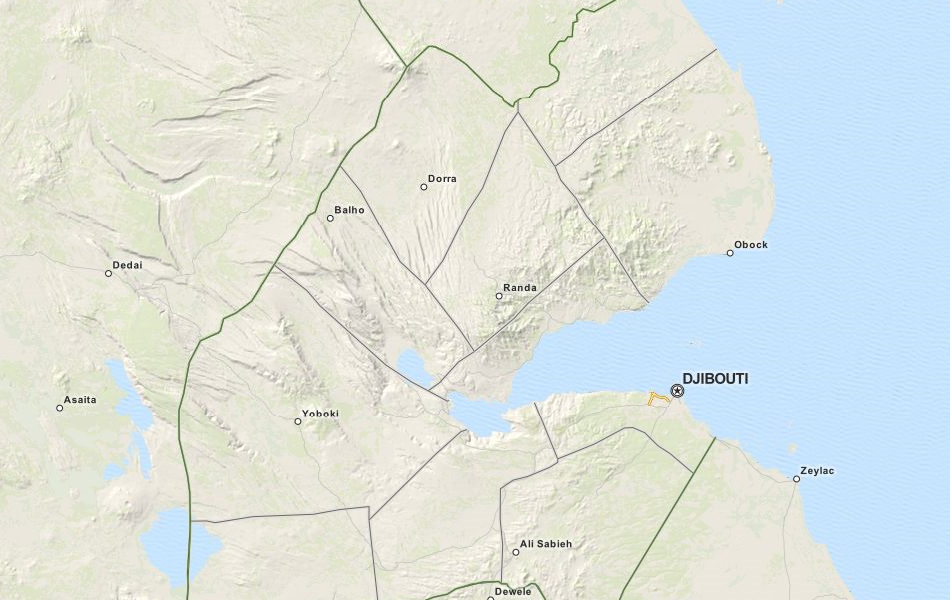 Map of Djibouti in ExpertGPS GPS Mapping Software