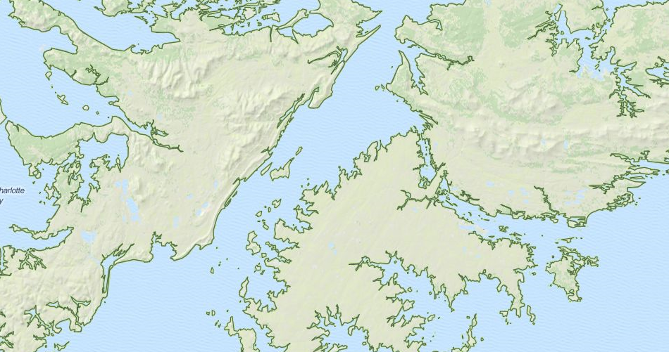 Map of Falkland Islands in ExpertGPS GPS Mapping Software