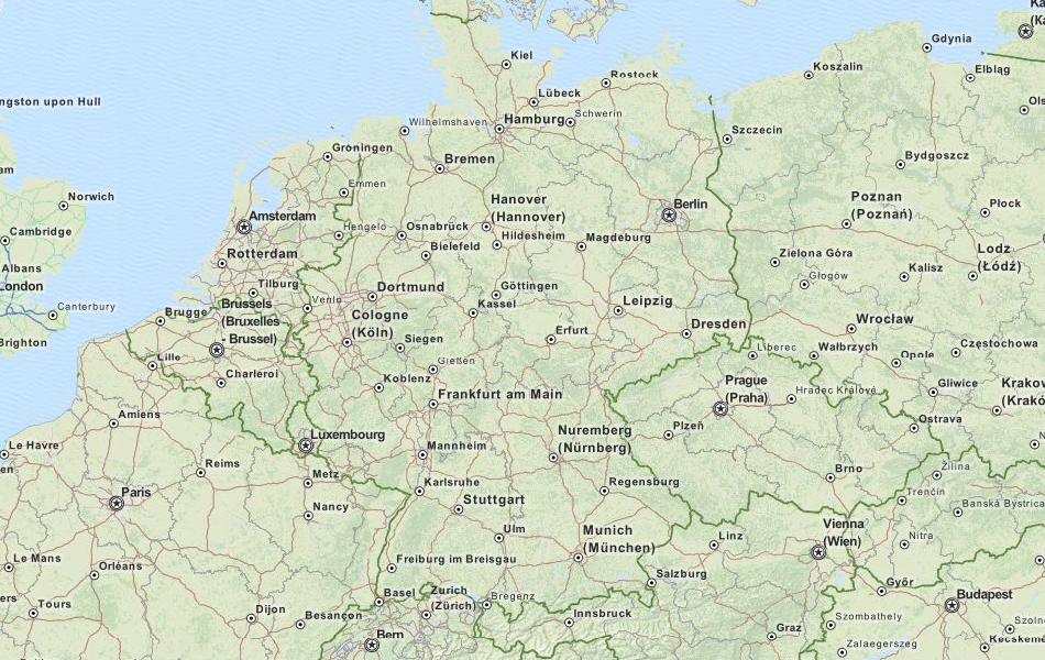 Download Germany Map Software For Your GPS - Germany map download