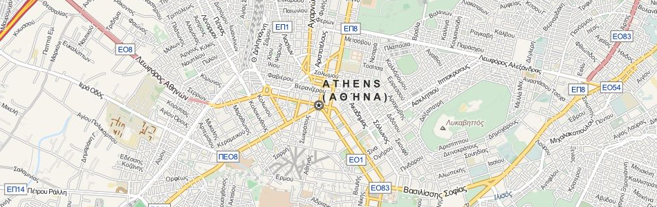 Map of Greece in ExpertGPS GPS Mapping Software