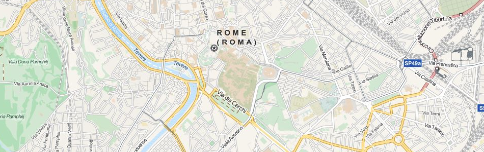 Map of Italy in ExpertGPS GPS Mapping Software