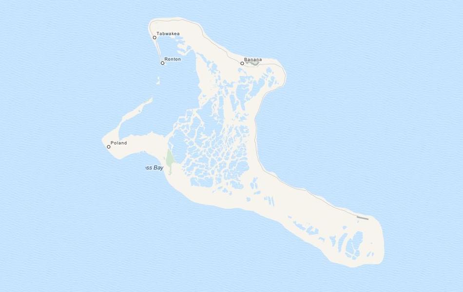 Map of Kiribati in ExpertGPS GPS Mapping Software
