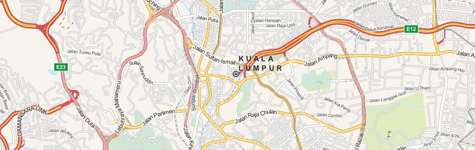 Map of Malaysia in ExpertGPS GPS Mapping Software