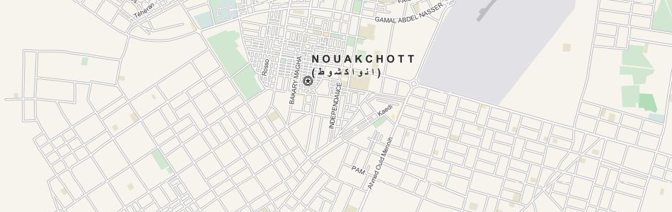 Map of Mauritania in ExpertGPS GPS Mapping Software