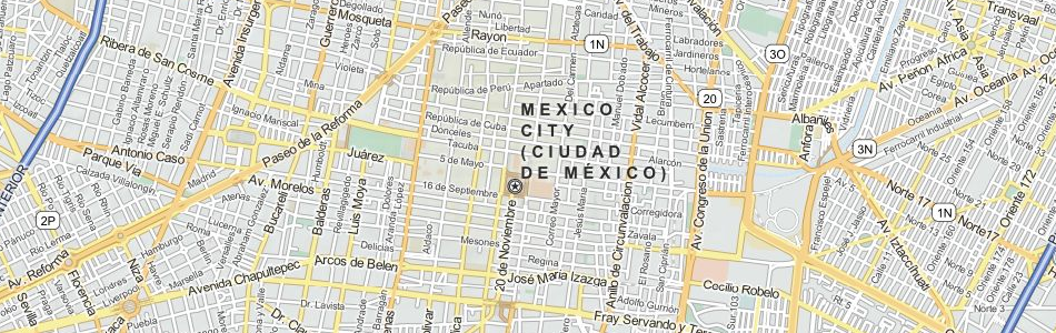 Map of Mexico in ExpertGPS GPS Mapping Software