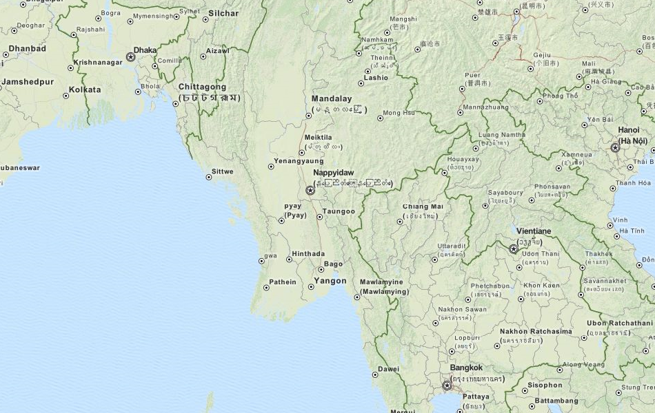 Download Myanmar Map Software For Your GPS - Burma map download