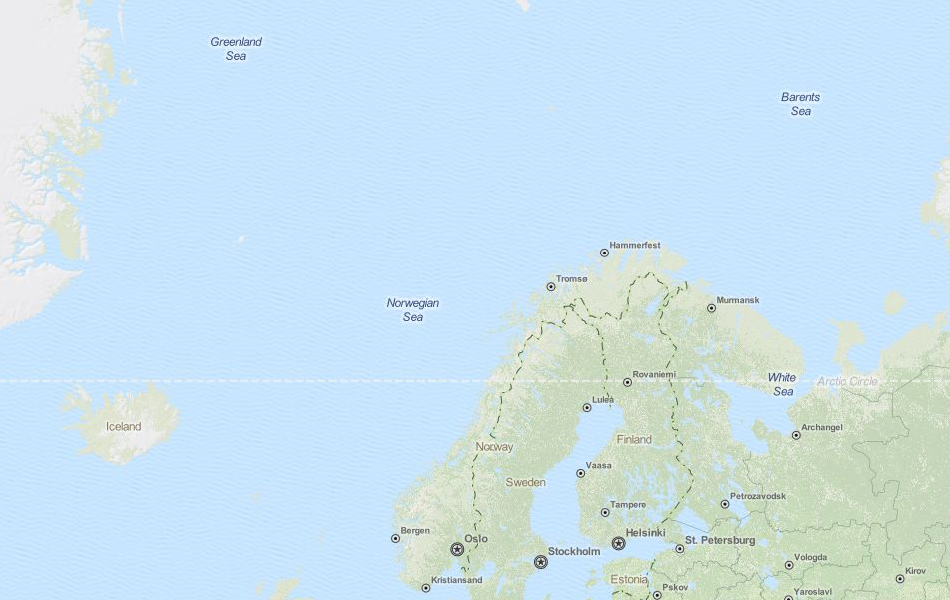 Map of Norway in ExpertGPS GPS Mapping Software
