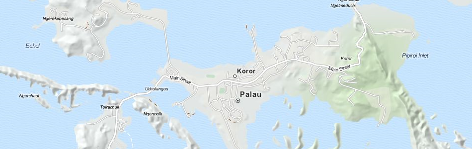 Map of Palau in ExpertGPS GPS Mapping Software