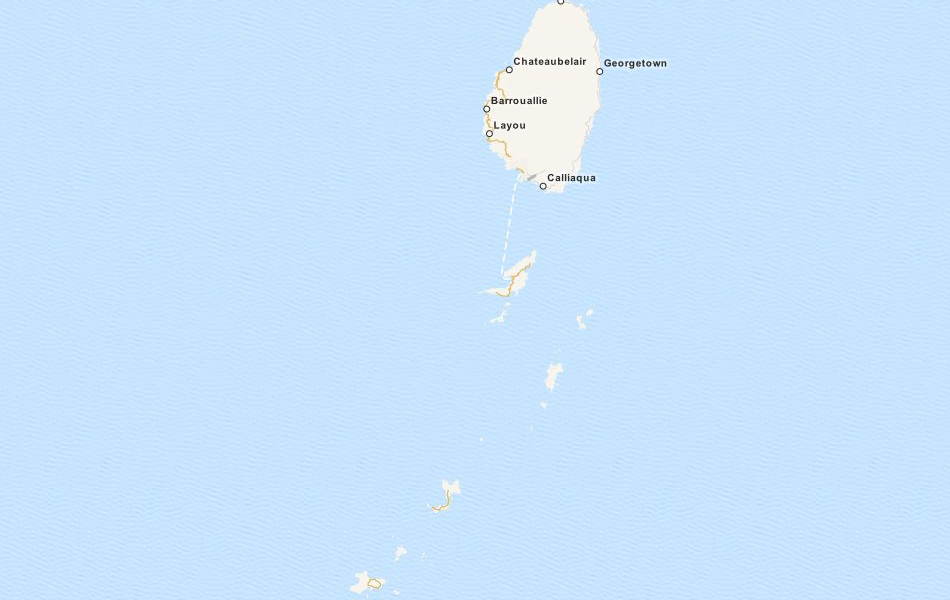 Map of Saint Vincent and the Grenadines in ExpertGPS GPS Mapping Software