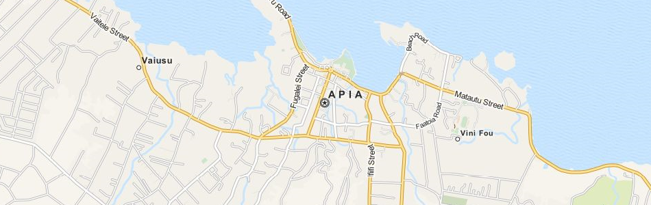 Map of Samoa in ExpertGPS GPS Mapping Software