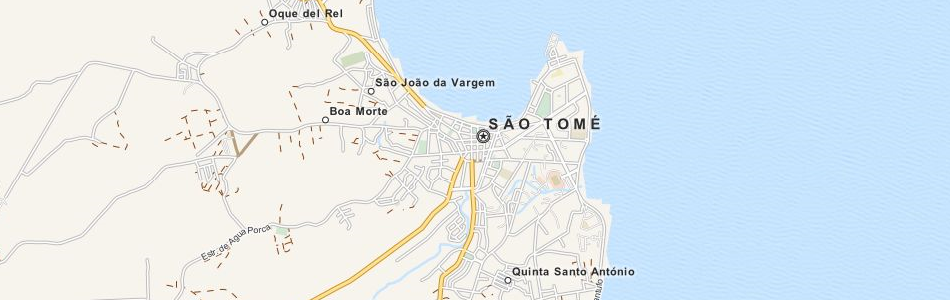 Map of Sao Tome and Principe in ExpertGPS GPS Mapping Software