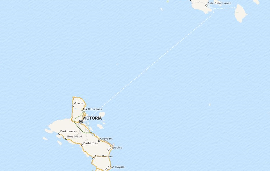 Map of Seychelles in ExpertGPS GPS Mapping Software