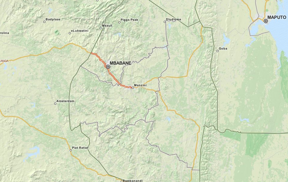 Download Swaziland Map Software For Your GPS - Swaziland map