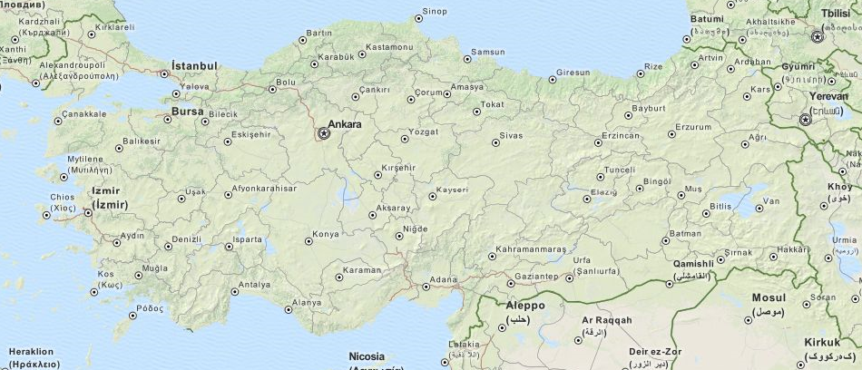 Download Turkey Map Software For Your GPS - Map of turkey