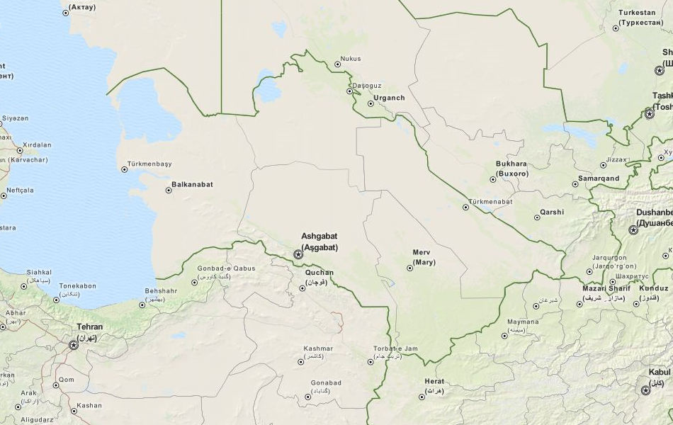 Download Turkmenistan Map Software for Your GPS