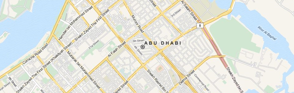 Map of United Arab Emirates in ExpertGPS GPS Mapping Software
