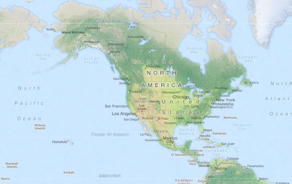Map of United States in ExpertGPS GPS Mapping Software