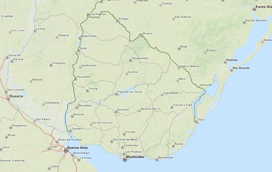 Download Uruguay Map Software For Your GPS - Uruguay map png