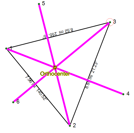 Finding orthocenter