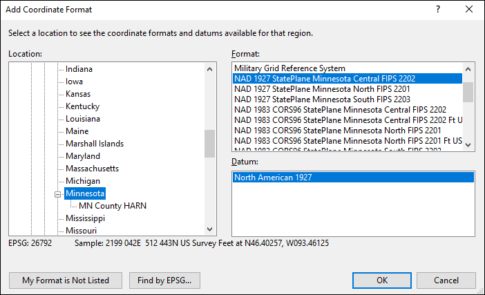 How to Convert Minnesota State Plane Coordinates: Lat/Long, UTM