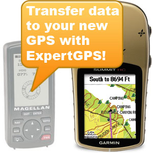 Transfer GPS data from one GPS to another with ExpertGPS